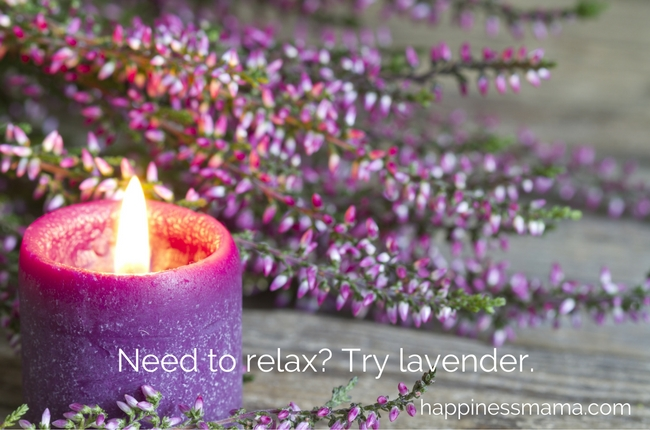 Lavender essential oil to relax